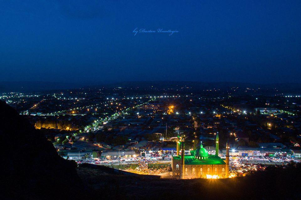 Вечерняя панорама Оша