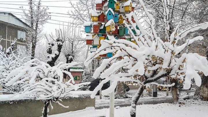 #Osh. Город в снежном одеянии