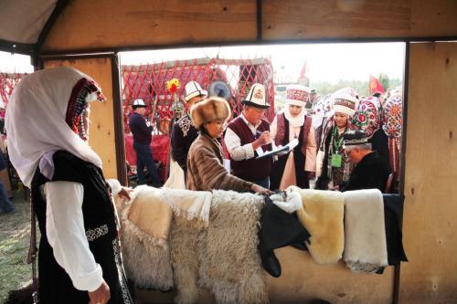 Делегация города Ош на Национальных играх кочевников в Таласе. Фото пресс-службы мэрии Оша, 2019